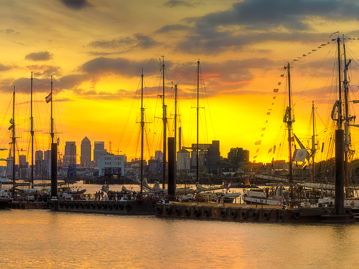 Tall ships festival, London.
