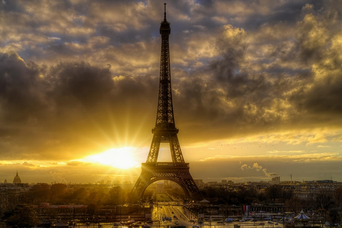 Sunrise Eiffel Tower, Paris